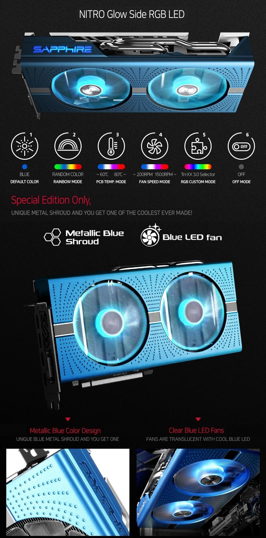 Resultado de imagen para fotos Tarjeta de Video - RX 580+ OC / Edición Especial / 8Gb DDR5 / SAPPHIRE