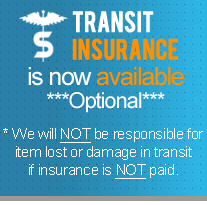 No Responsibility is taken for any item lost or damaged during the transit process if insurance is not paid.